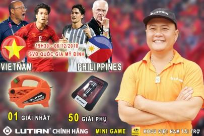 Lutian Việt Nam thông báo kết quả Mini Game dự đoán tỉ số trận Bán kết lượt về AFF Cup 2018 giữa Việt Nam - Philippines