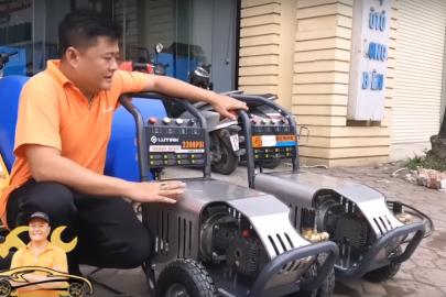 Cách phân biệt máy rửa xe #Lutian hàng chính hãng & hàng nhái
