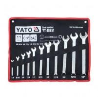 Bộ cờ lê vòng miệng hệ inch 11 chi tiết Yato YT-48851