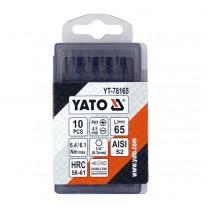 Bộ đầu vít đầu 2 cạnh, 4 cạnh 1/4 inch 10 chi tiết Yato YT-78165