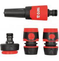 Bộ khớp nối và vòi phun nước 3/4 x1 inch 4 chi tiết Yato YT-99832