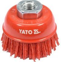 Chổi cước sợi nylon đỏ 125mm M14 Yato YT-47787